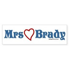 Mrs (heart) Brady Bumper Bumper Sticker