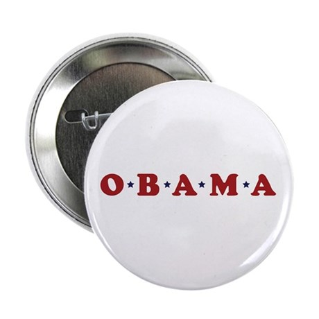 "Obama (simple stars) 2.25"" Button"