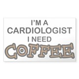 Cardiologist Need Coffee Rectangle Decal