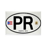 Puerto Rico Euro Oval Rectangle Magnet