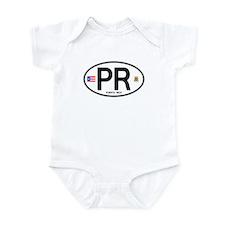 Puerto Rico Euro Oval Infant Bodysuit