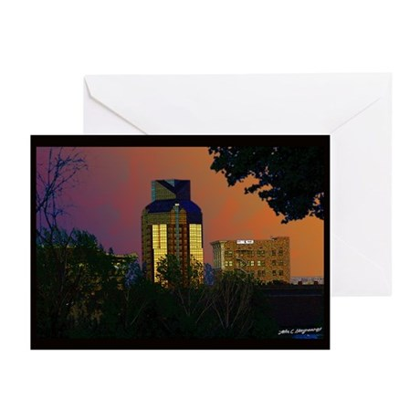 Sacramento sunset Greeting Cards (Pk of 10)