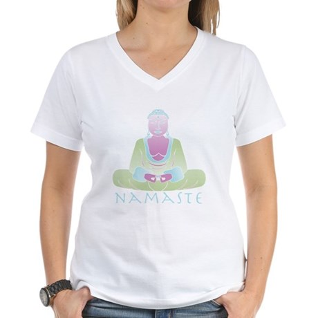 Yoga Buddha 5 Women's V-Neck T-Shirt