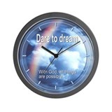 Dare to Dream Wall Clock (rainbow)