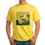 White Trumpeter Pigeons Yellow T-Shirt
