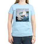 White Trumpeter Pigeons Women's Light T-Shirt