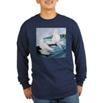 White Trumpeter Pigeons Long Sleeve Dark T-Shirt
