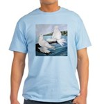 White Trumpeter Pigeons Light T-Shirt