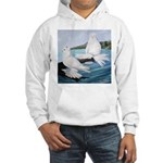 White Trumpeter Pigeons Hooded Sweatshirt