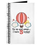 Third 3rd Birthday Hot Air Balloon Journal