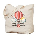 Third 3rd Birthday Hot Air Balloon Tote Bag