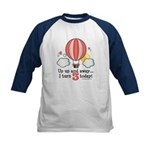Third 3rd Birthday Hot Air Balloon Kids Baseball J