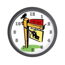 Real Estate Agent or Broker Wall Clock