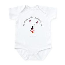 White Schnauzer Infant Bodysuit