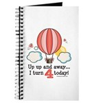 Fourth 4th Birthday Hot Air Balloon Journal