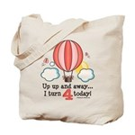 Fourth 4th Birthday Hot Air Balloon Tote Bag