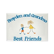 Brayden & Grandma - Best Frie Rectangle Magnet (10