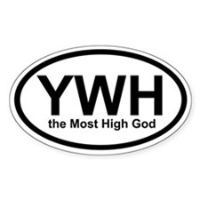 YWH the Most High God Oval Decal