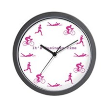 It's Business Time Triathlon Wall Clock
