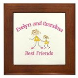Evelyn & Grandma - Best Frien Framed Tile
