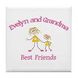 Evelyn & Grandma - Best Frien Tile Coaster