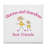 Gianna & Grandma - Best Frien Tile Coaster