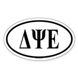 DELTA PSI EPSILON Oval Decal