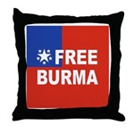 Free Burma Throw Pillow