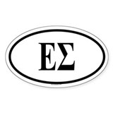 ES Oval Decal