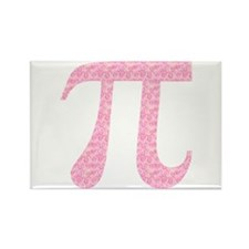 Pink Heart Pi Rectangle Magnet