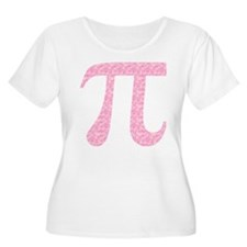 Pink Heart Pi T-Shirt