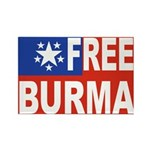 Free Burma Rectangle Magnet