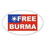 Free Burma Oval Sticker