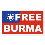 Free Burma Rectangle Sticker