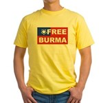 Free Burma Yellow T-Shirt