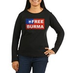 Free Burma Women's Long Sleeve Dark T-Shirt