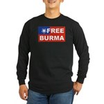 Free Burma Long Sleeve Dark T-Shirt