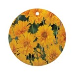 Coreopsis Early Sunrise Ornament (Round)