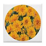 Coreopsis Early Sunrise Tile Coaster