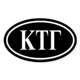 KAPPA TAU GAMMA Oval Decal