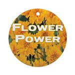 Coreopsis Flower Power Ornament (Round)