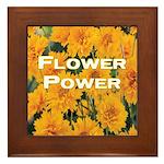 Coreopsis Flower Power Framed Tile