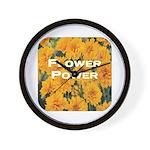 Coreopsis Flower Power Wall Clock