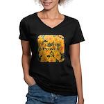 Coreopsis Flower Power Women's V-Neck Dark T-Shirt