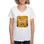 Coreopsis Flower Power Women's V-Neck T-Shirt