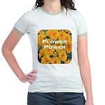Coreopsis Flower Power Jr. Ringer T-Shirt