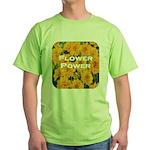 Coreopsis Flower Power Green T-Shirt