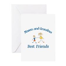 Mason & Grandma - Best Friend Greeting Cards (Pk o