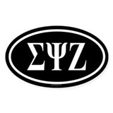 SIGMA PSI ZETA Oval Decal