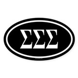 SIGMA SIGMA SIGMA Oval Decal